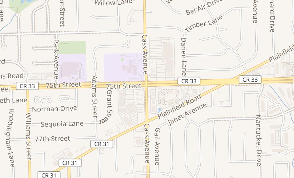 map of 7517 S Cass Ave Ste EDarien, IL 60561