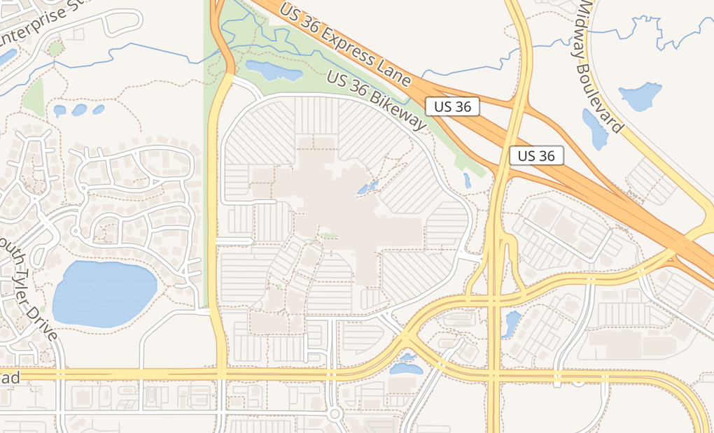 map of 1 W Flatiron Crossing Dr Ste 1094Broomfield, CO 80021