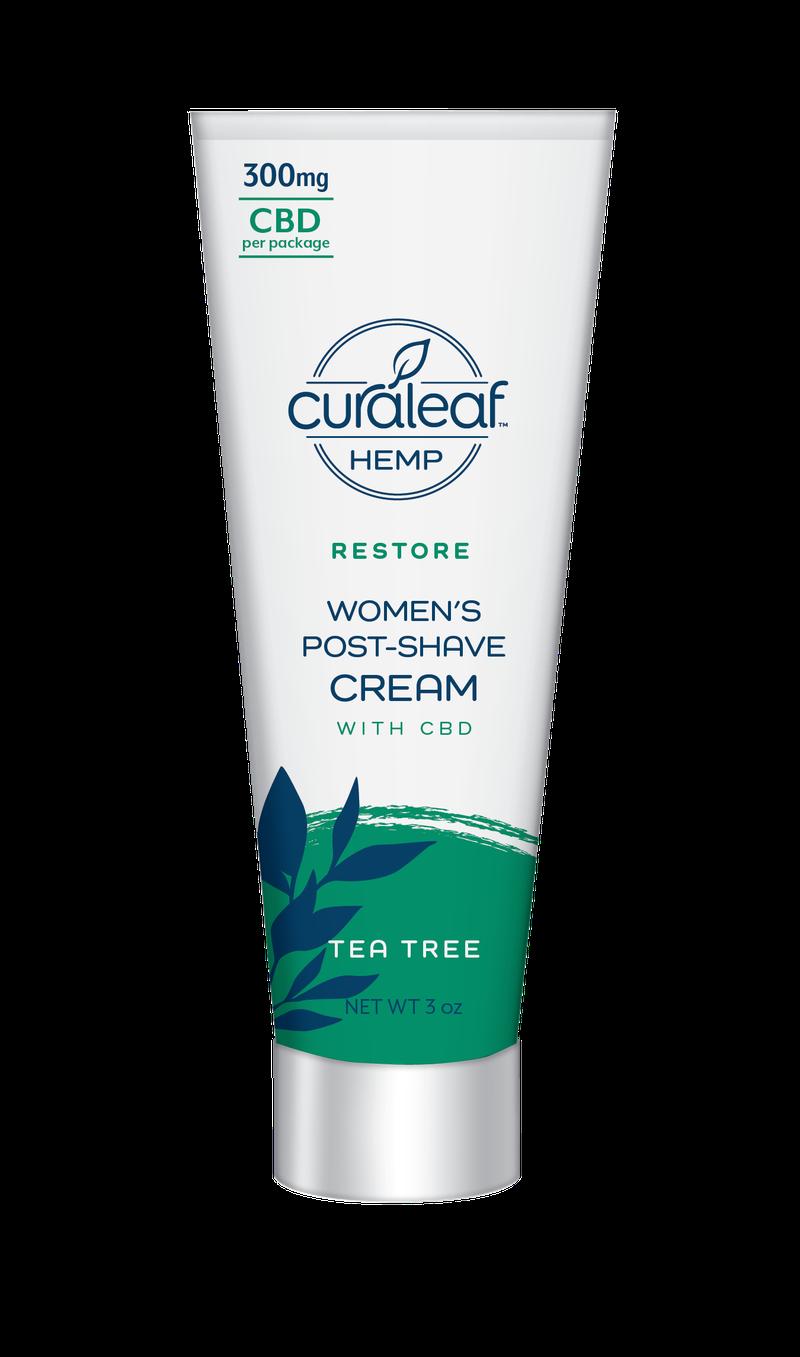 Hemp CBD Women's Post-Shave Cream - Tea Tree - Curaleaf