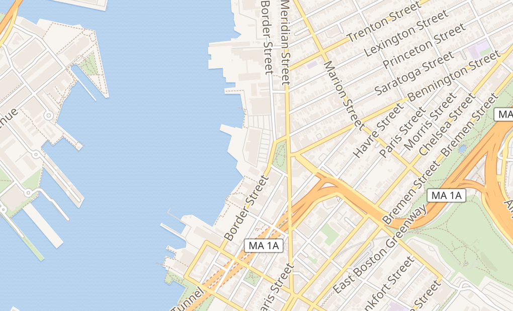 map of 192 Border StE Boston, MA 02128