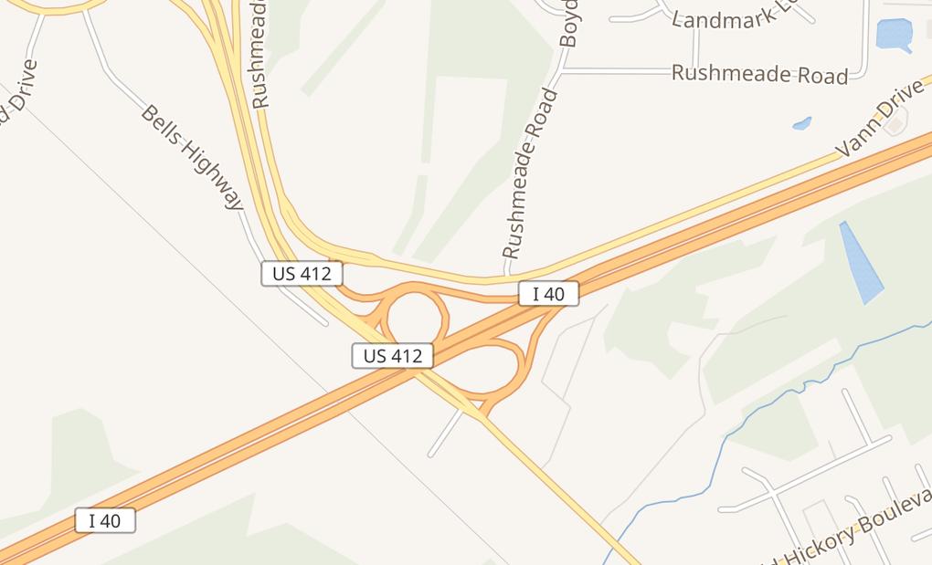 map of 1130 Vann DrJackson, TN 38305