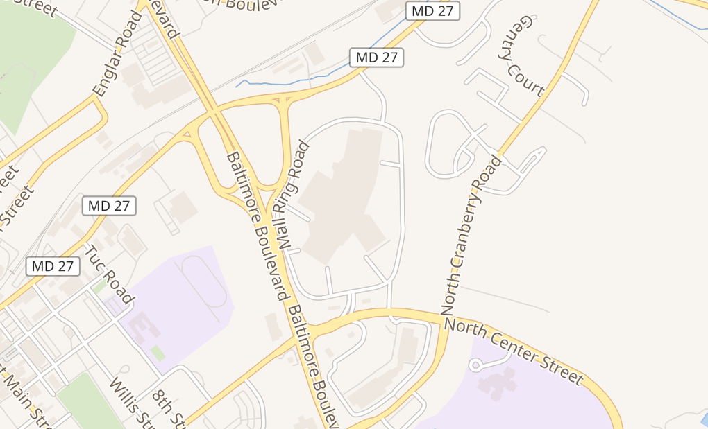 map of 400 N Center StWestminster, MD 21157