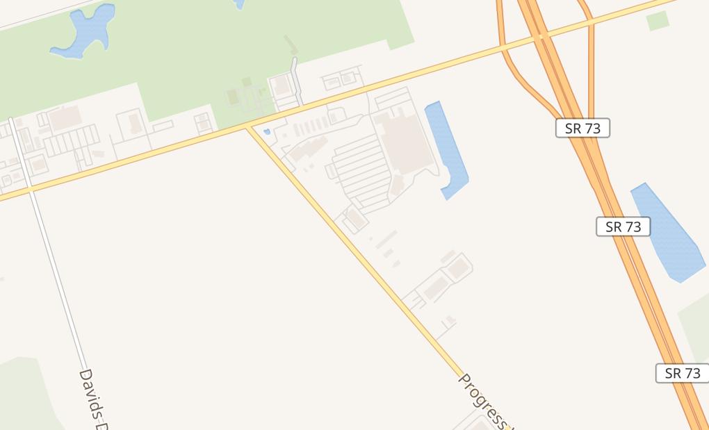 map of 2855 Progress WayWilmington, OH 45177