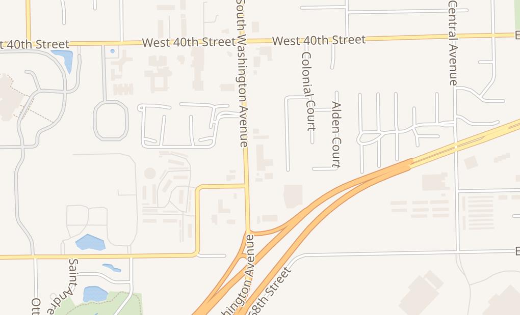 map of 1111 Washington Ave Ste CHolland, MI 49423