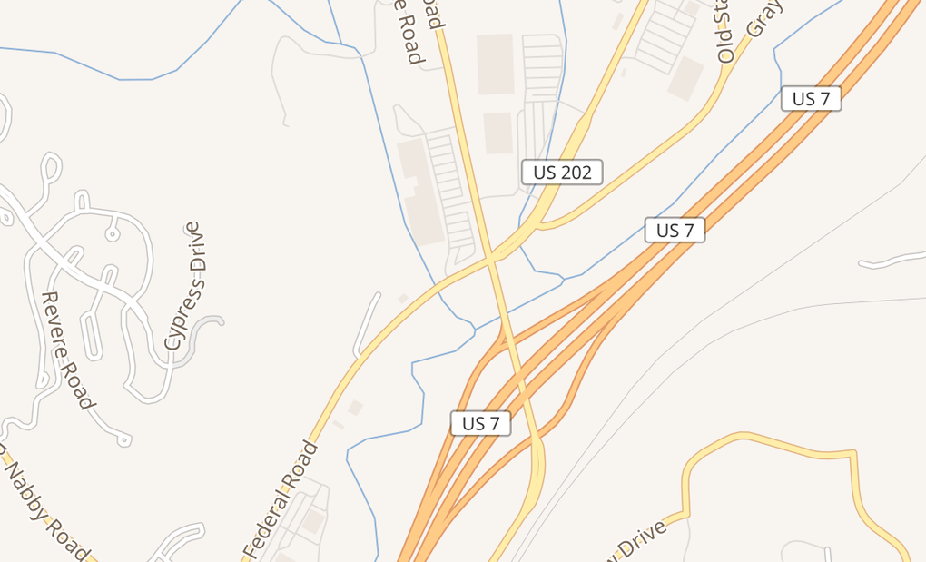 map of 49 Federal RdBrookfield, CT 06804