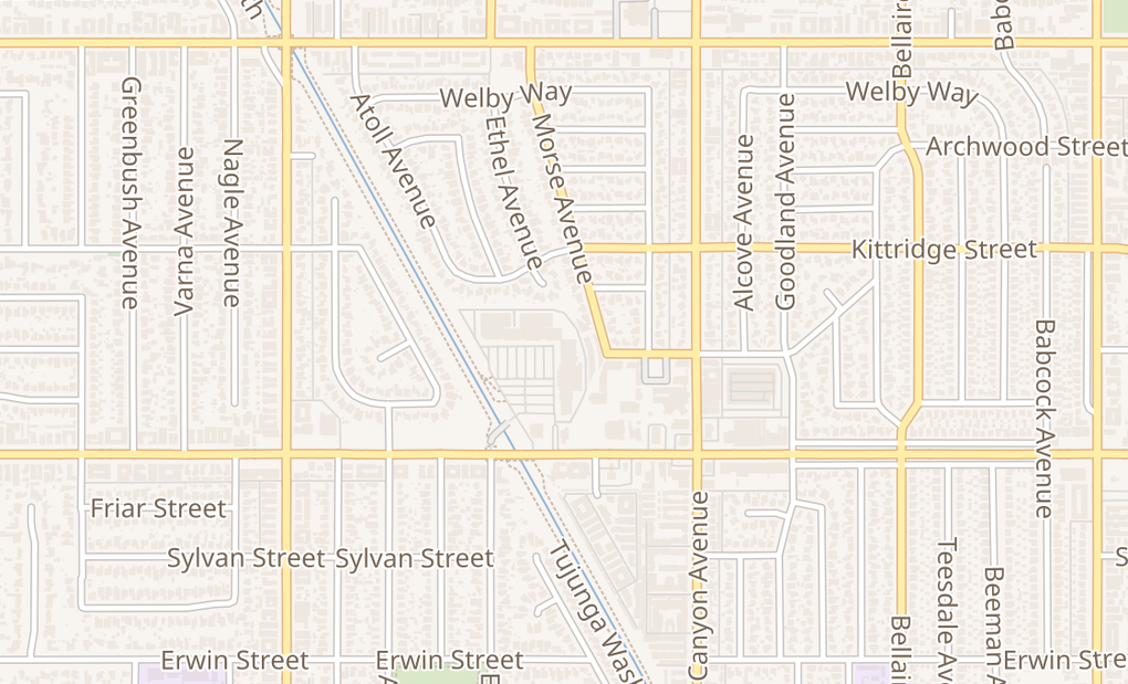 map of 13029 Victory BlvdNorth Hollywood, CA 91606