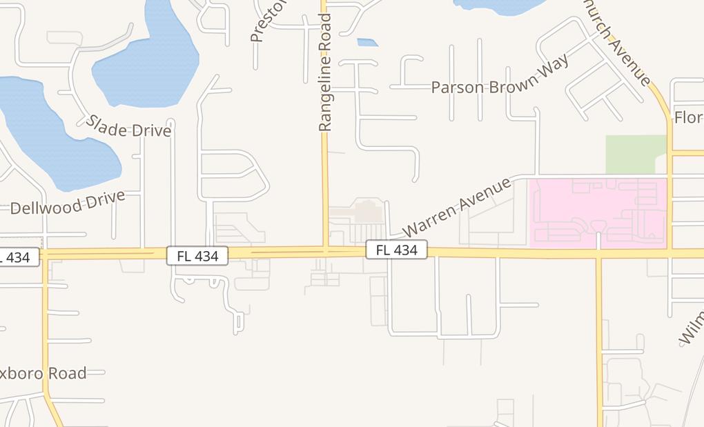 map of 969 W State Road 434Longwood, FL 32750
