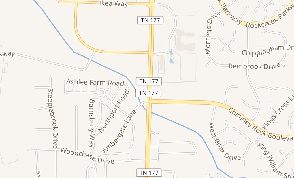 map of 2075 N Germantown Pkwy Ste 110Cordova, TN 38016