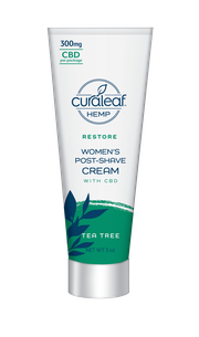 Hemp CBD Women's Post-Shave Cream - Tea Tree at Curaleaf Carle Place - Curbside Pick-up Only