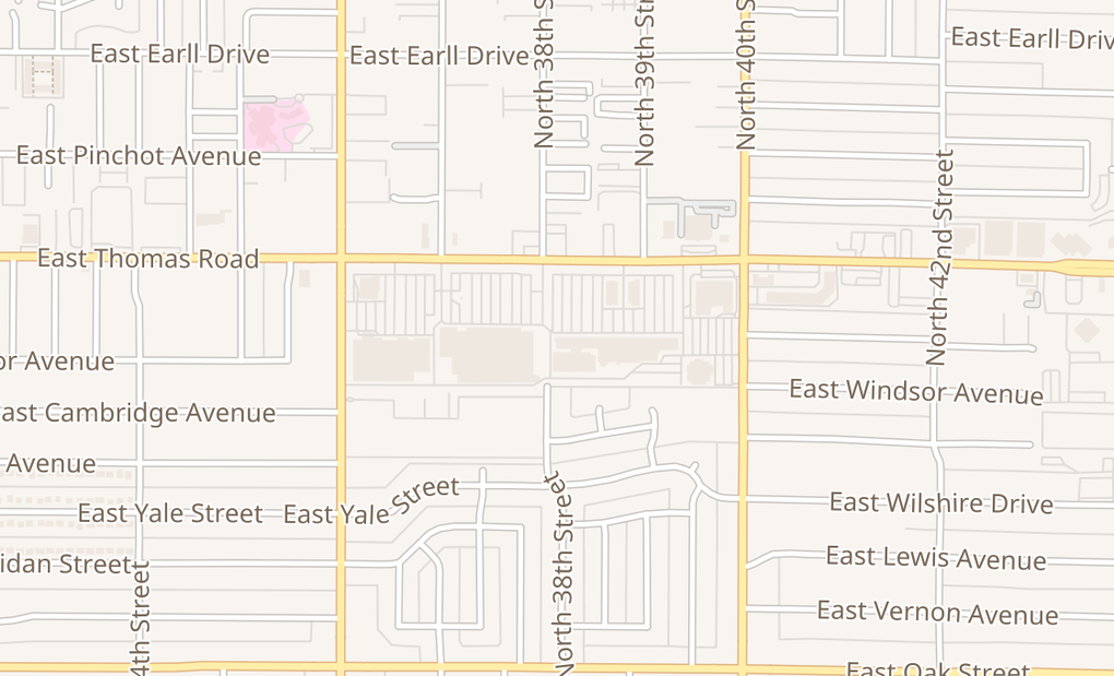 map of 3833 E Thomas Rd Ste A1Phoenix, AZ 85018