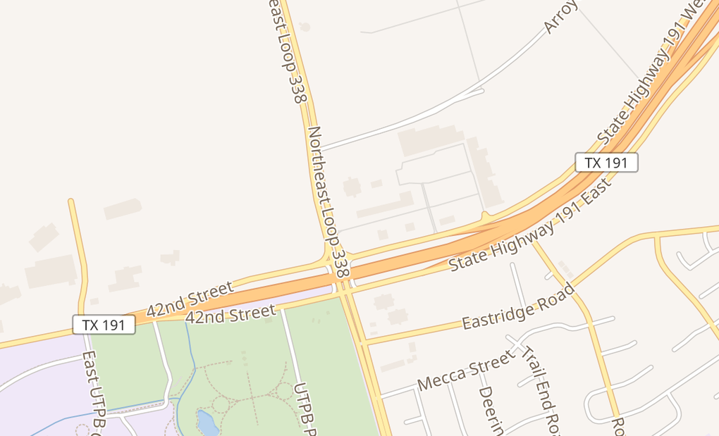 map of 6111 East Hwy 191Odessa, TX 79762