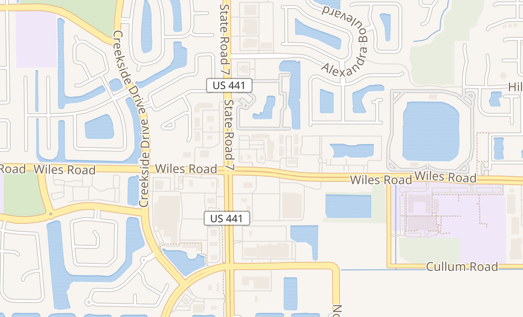 map of 5511 Wiles RdCoconut Creek, FL 33073