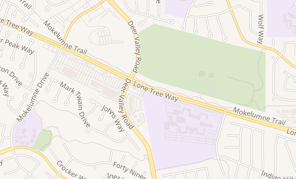 map of 4498 Lone Tree WayAntioch, CA 94531