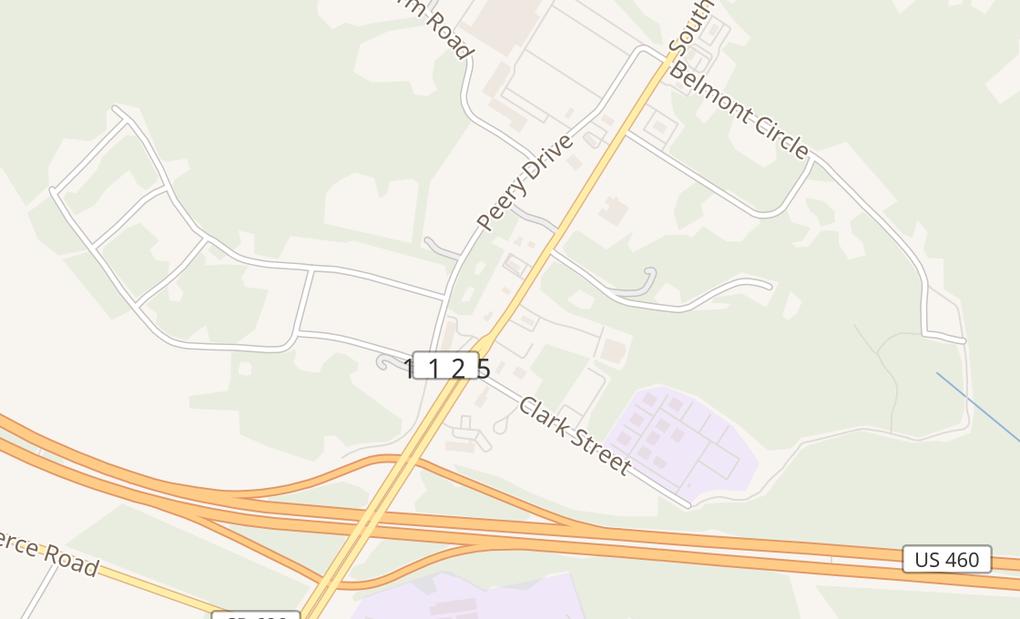 map of 2010 S Main St Ste BFarmville, VA 23901