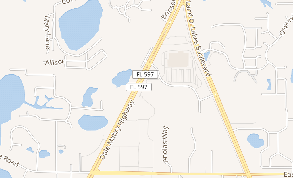 map of 1408 Dale Mabry HwyLutz, FL 33548
