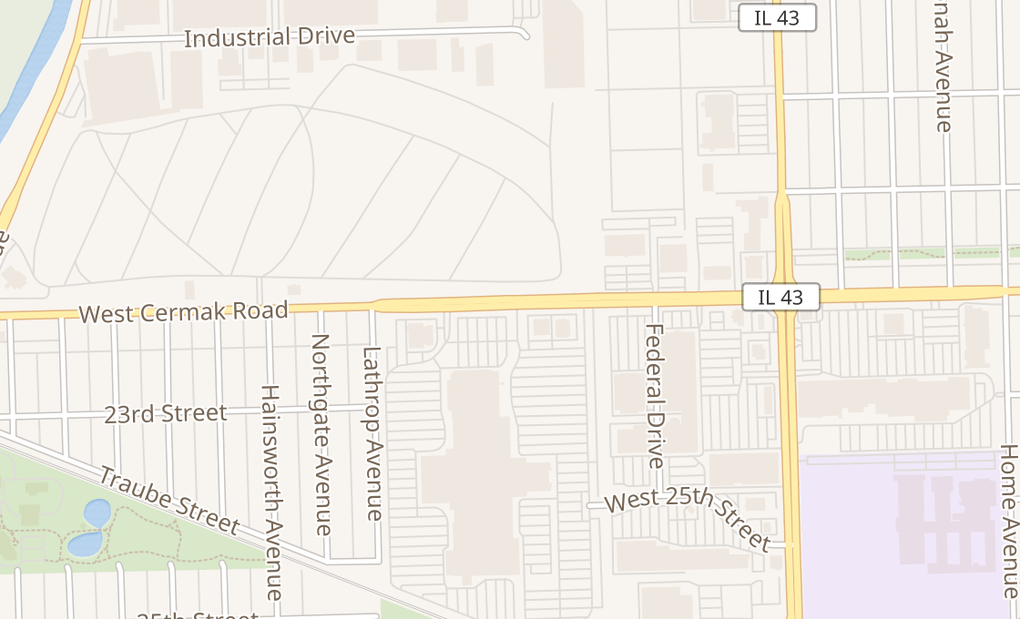 map of 7501 W Cermak Rd Spc F5BNorth Riverside, IL 60546